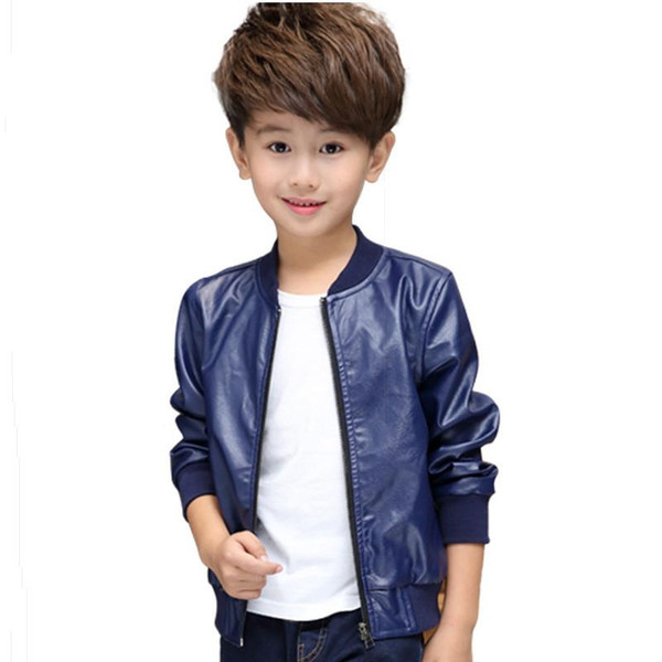cool kids leather jacket coat solid gentleman style jacket baseball coat for 2-10years children boys girls leather outerwear clothing