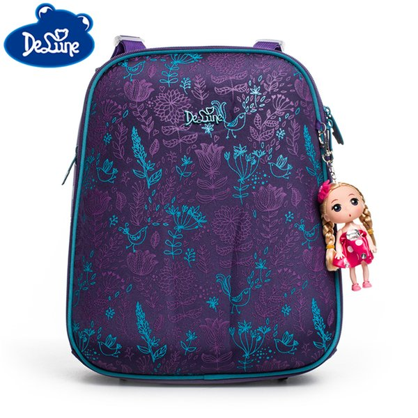 Burden Reducing School Backpack Book Bag Delune High Quality Bag 3D Flower Bag