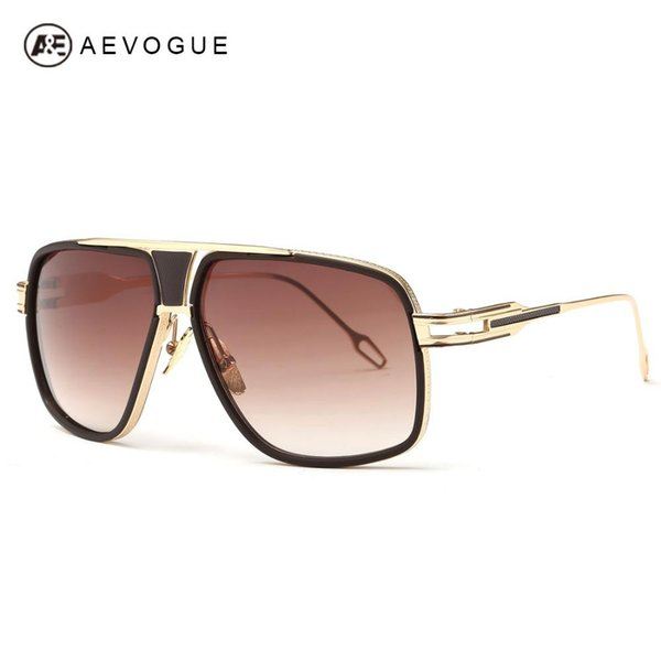 Toptan Satış - Toptan-AEVOGUE Erkek Güneş Yeni Vintage Big Frame Goggle Yaz Stil Marka Tasarım Güneş Gözlükleri ulculos De Sol UV400 AE0336