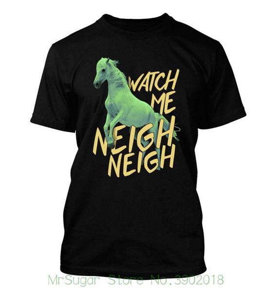 Watch Me Neigh Neigh #355 - Men's T-shirt - Funny Humor Comedy Equestrian Horse O-neck Sunlight Men T-shirt