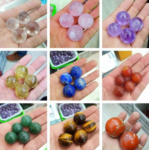 Esfera de quartzo natural bola de cristal de quartzo reiki cura 4pc