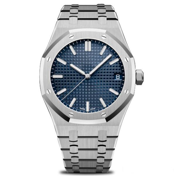 Nuevos relojes automáticos de lujo para hombre de moda de acero inoxidable de alta calidad modernos relojes de pulsera Rose Gold Royal Oak Watch 42mm tamaño grande