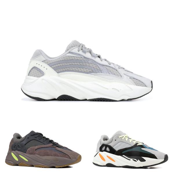 2019 Yeni Dalga Koşucu 700 V2 Statik 3 M Malzeme leylak Kanye West Sneakers Erkek Kadın Tasarımcı Koşu Ayakkabıları Spor Kutusu Ile Boyutu US5-13