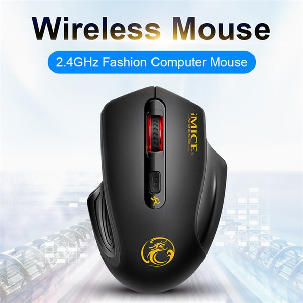 Color : Black Gaming Mouse Ergonomic Mouse USB Wireless Mouse Laptop Mouse 2000DPI Adjustable 3.0 Receiver Optical Computer Mouse Fast Scrolling