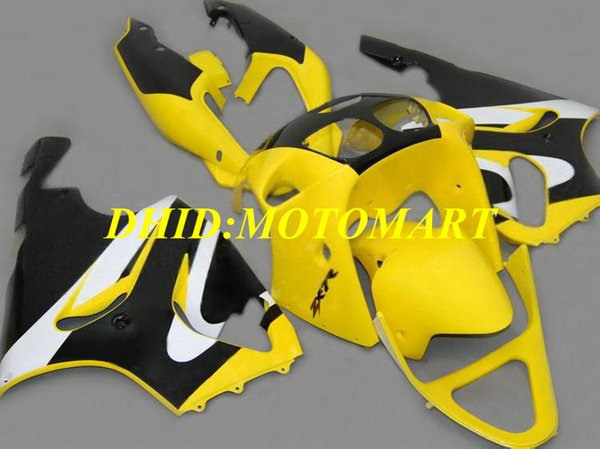Kit carenature per moto per KAWASAKI Ninja ZX7R 97 99 00 03 ZX 7R 1997 2003 ABS giallo nero Carenato set KA05