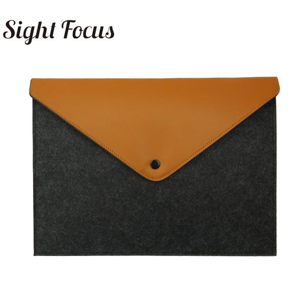 Зрение Фокус Марка Practica серый Войлок Сумки Light Handy A4 документы портфель для MacBook Air Pro 13