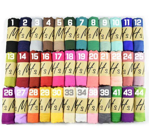 Sexy Femmes Solide 180x90 CM Sarong Foulards Serviette Plaine Foulard En Soie De Coton Lin Châles Doux Wrap Long HeadScarf Plage Écharpe Pashmina