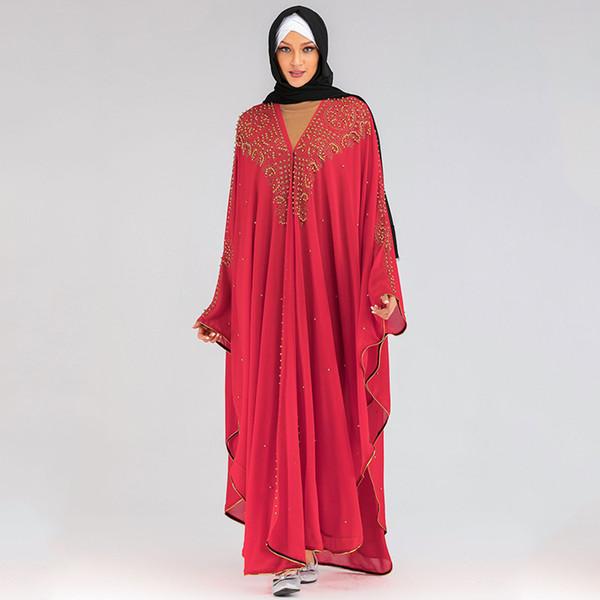 Rouge Abaya Taille