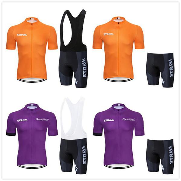 STRAVA 2019 Новый летний велоспорт Джерси с коротким рукавом Набор велосипедов Одежда для велосипеда ropa Ciclismo uniformes Одежда для велоспорта Майка (нагрудник) Шорты # 7