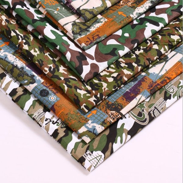 very cheap fabric camouflage thin for Summer polyester camouflage fabric for bag DIY table cloth curtain 45*150cm/piece T7868