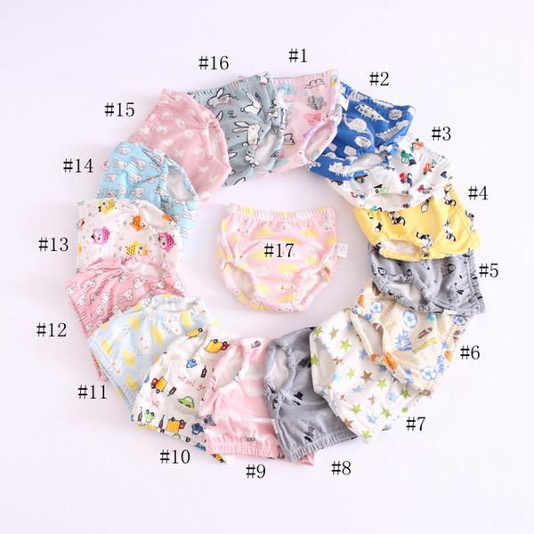 17 colori bambino del bambino di addestramento Pants 6 strati di cotone Cambiare pannolini lavabili Infant Cloth Diaper Mutandine riutilizzabili EEA709