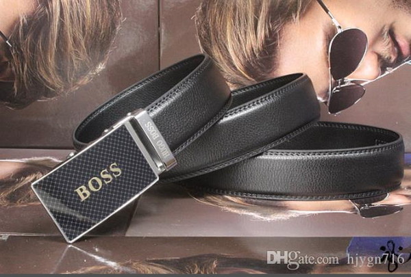 Cow Genuine Leather Men Belts Luxury Automatic Buckle Belts For Men Black/Brown Colors First Layer Cowhide Belt