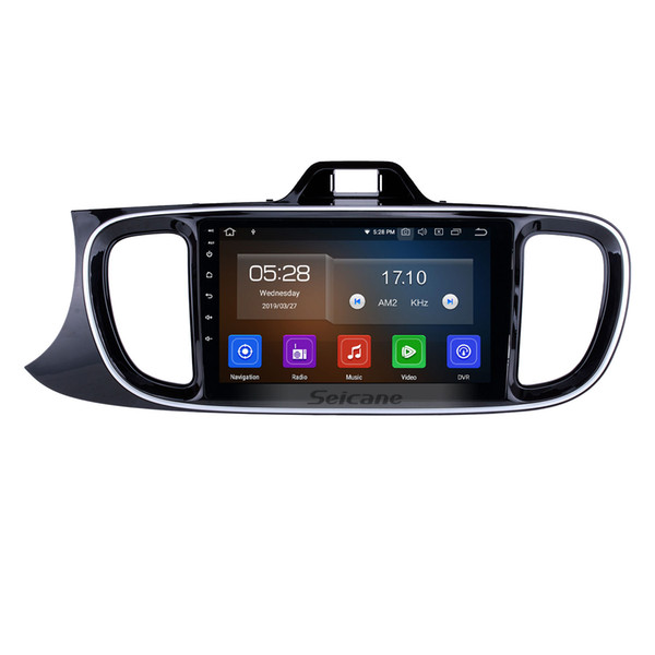 9 inch touchscreen Android 9.0 Head Unit GPS Car Radio for 2017 KIA PEGAS LHD with Bluetooth music USB support OBD car dvd 1080P Rear Camera