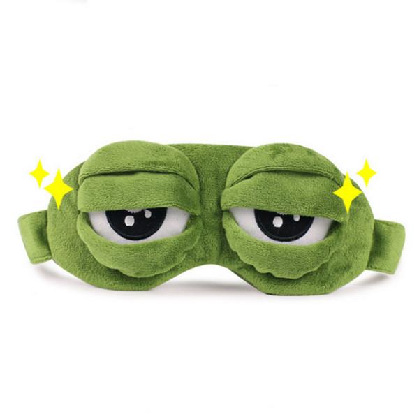 Mignon Masque Pour Les Yeux Sad Frog 3D Masque Pour Les Yeux Eyeshade Shading Sommeil Camping En Plein Air Voyager Repos Sommeil Masque Pour Les Yeux En Plein Air Multi Outils