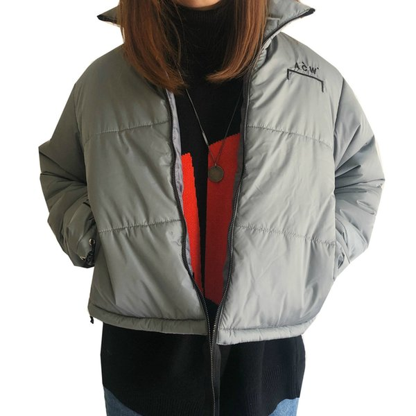 18FW ACW Down Jacket Bread Bundle Warm Down Jacket Man And Woman High Quality Grey Down Jacket HFWPJK124