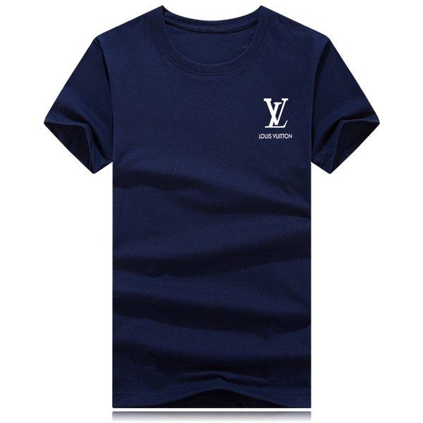 Мужские дизайнерские футболки сплошной цвет 2019 лето тройники бренд стильный с коротким рукавом печати роскошные Мужская одежда S-3XL плюс размер