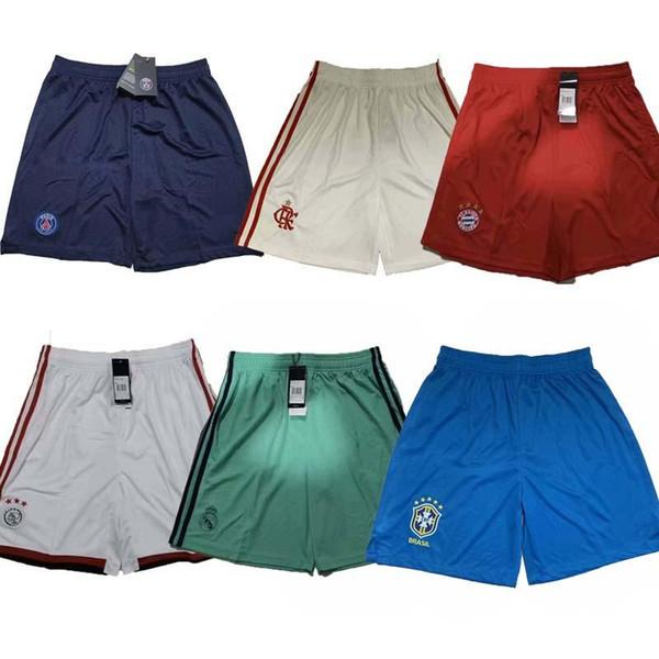 Высочайшее качество psg soccer shorts 2019 года 2020 Ajax футбольные шорты Реал Мадрид короткие бразильские Бавария Фламенго США mexcio 19 20 Европа размер S-XL