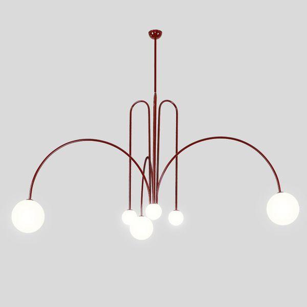Итальянский Led утюг подвесные светильники Спальня Гостиная подвесной филиал стекло прикроватное освещение декор кухня подвесные светильники Luminaria