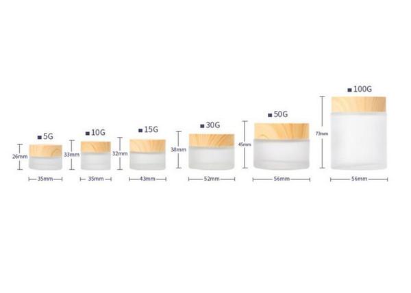 Recarregáveis Garrafas Cosméticos Jar Box Maquiagem Rosto Creme Loção Recipiente De Armazenamento De Cosméticos Pote - Vazio De Plástico Transparente Caso