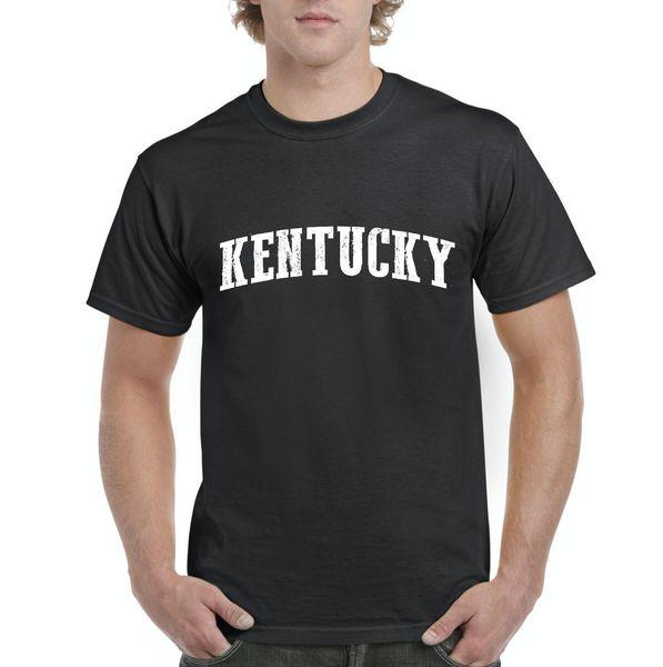 best website 77ef0 0165e KY Kentucky Map Louisville Flag Wildcats Home of University of T-Shirt  Adult Fashion T
