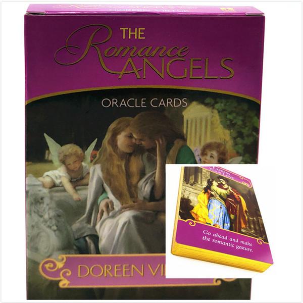 Романтика Ангелы Oracle Cards английский Read Fate Card Настольная игра Игра Ленорман Мудрость Таро Детские Подарочные игрушки