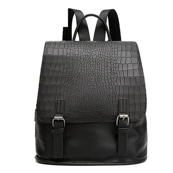 good quality Alligator Women Backpack High Quality Pu Leather School Backpack Student Bag For Teens Girls Female Travel Bags