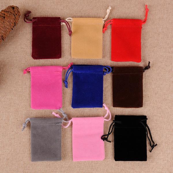 Tek Renk 50 Kadife Hediye Çanta İpli Takı Torbalar Şeker Çantalar Düğün Paketi Şekeri (10 * 20 cm, 12 * 15 cm, 13 * 18 cm15 * 20, 17 * 23, 20 * 30,)