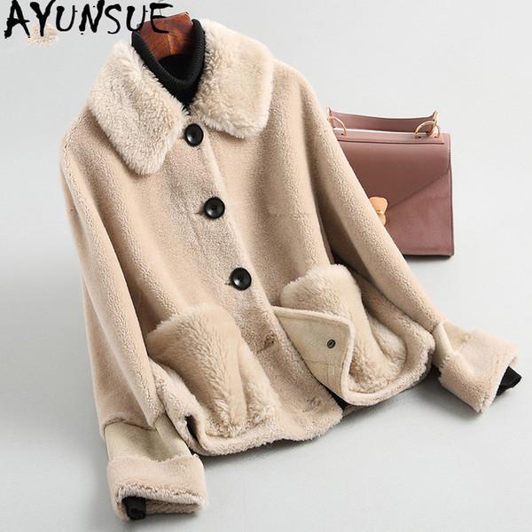 2019 Sheep Ayunsue Mäntel Shearling Wolle My3558 Honey333 Von Frauen Großhandel Kleidung Real Winterjacke Jacken Echte Chaqueta Und Mujer Pelz WD2IEYeH9b