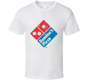 Dominos Pizza Fast Food Restaurant Distressed Look T Shirt