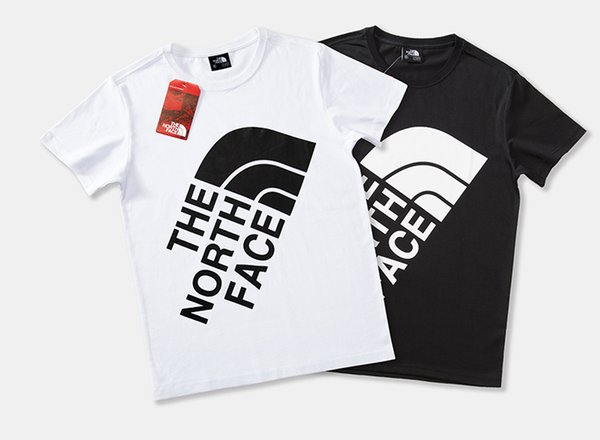 Mens T Shirts Brand Clothes Casual Letters Short Sleeve Outdoor Sports Tops Breathable Tees Black White Tees