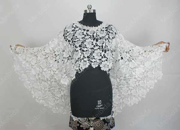 new Bride Wedding Veil White Ivory Water-soluble Lace Jacket Shawl American Fashion Week Entry Products