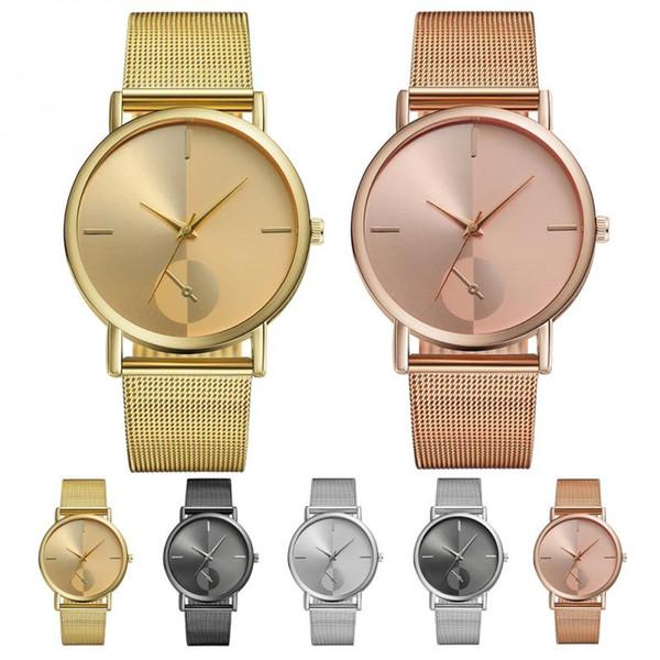 VANSVAR Fashion Causal Women Men Watch Round Dial Quartz Wristwatch Decoration Jewelry