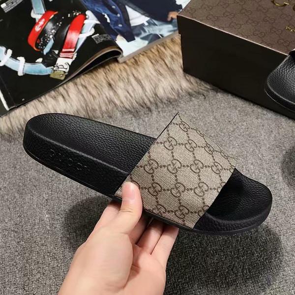 Avec Box 19ss Nouvelle Arrivée Designer De Luxe Paris gSandals Mode Hommes Femmes Sliders Summer Beach Pantoufles En Plein Air Chaussures 35-45