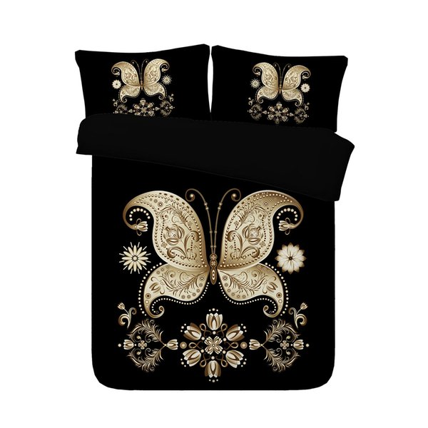 Butterfly Duvet Cover Set Decorative 3 Piece Bedding Set With 2 Pillow Shams Super Soft Comforter Cover Without Comforter