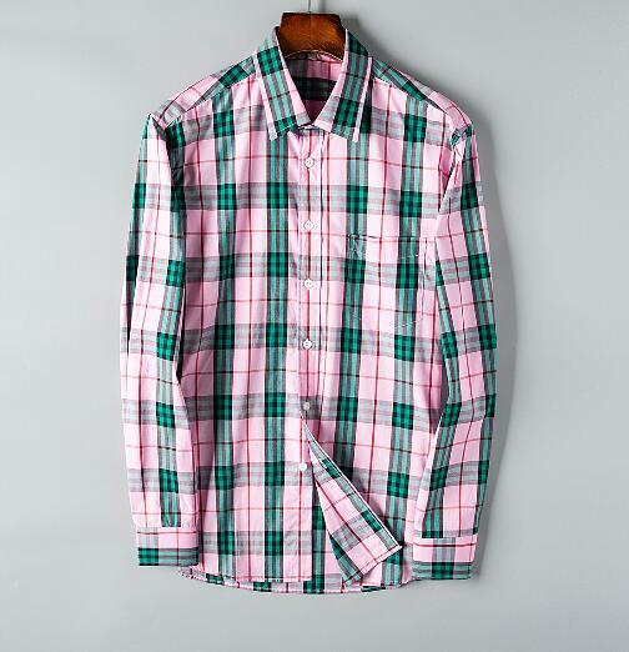 Newest Fashion Autumn Mens Shirt Candy Slim Fit Luxury Casual Stylish Dress Shirts Colours Plus Sizes M-3XL =129
