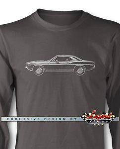 1972 Plymouth Cuda 039 Coupe longue S2019ves T-shirt de plusieurs couleurs et tailles