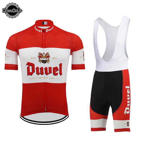 DUVEL beer UOMO maglia ciclismo set red pro team abbigliamento ciclismo 9D gel traspirante pad MTB ROAD MOUNTAIN abbigliamento bici racing abbigliamento