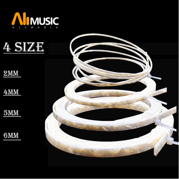 top popular 10pcs Colorful Celluloid 6 5 4 2 mm Width Guitar Binding Purfling 5 Feet Length White Pearl 2021