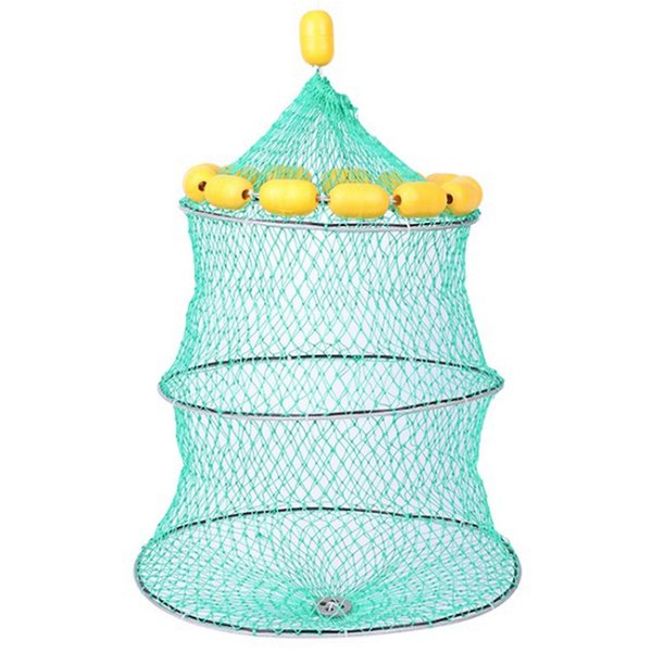 Portable Floating Ball Fish Net New Cast Mesh Cage Boat Fishing Catching Silk Material Fishing Net For Lure