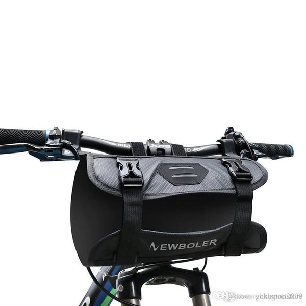 Tubo del frente del marco de la bolsa impermeable moto manillar de la bicicleta cesta Paquete Ciclismo delantero Pannier Accesorios de bicicletas yihan