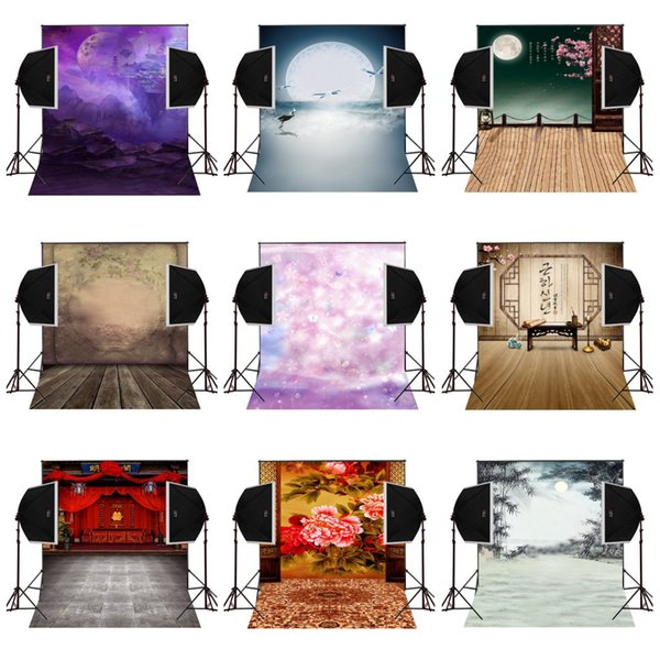 custom 5X7FT cloudy moonlight scenic vinyl photography backdrop photo background digital music studio prop comunion decoracion for party