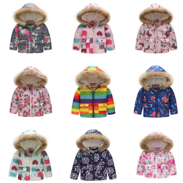 Baby Girls Jacket 2019 Winter Children Jacket For Girls Coat Kids Thick Warm Hooded Outerwear Toddler Coats For Girls Clothes BLE415