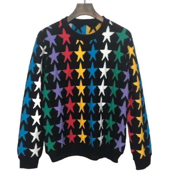Designer brand star embroidery sweater pullover famous jumper for men women outwear clothing