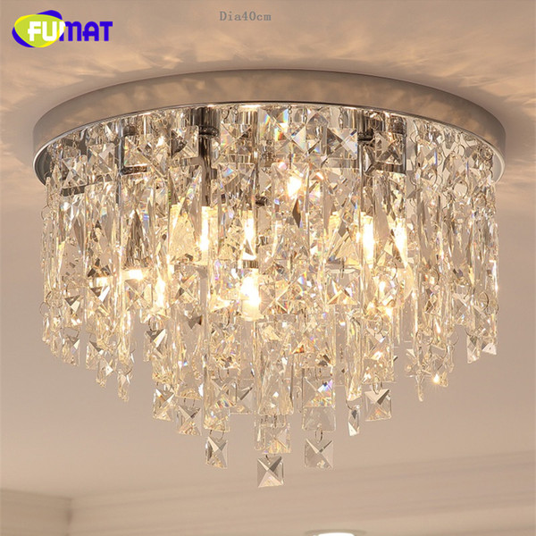 FUMAT Crystal K9 Lampade da soffitto trasparenti Moder Style Lighting Round Form E14 Dining Room Soggiorno Luxury Hanging Light Fixture