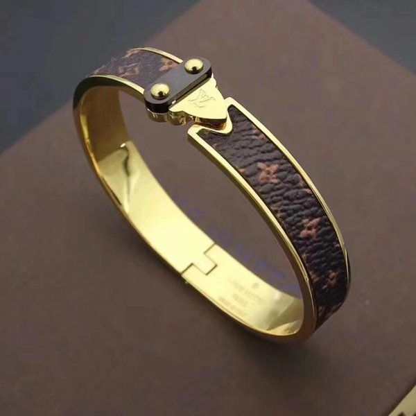 55Luxury designers leather bracelet with gold pattern designs G5Louisvuitton bracelet with brands new fashion jewelry