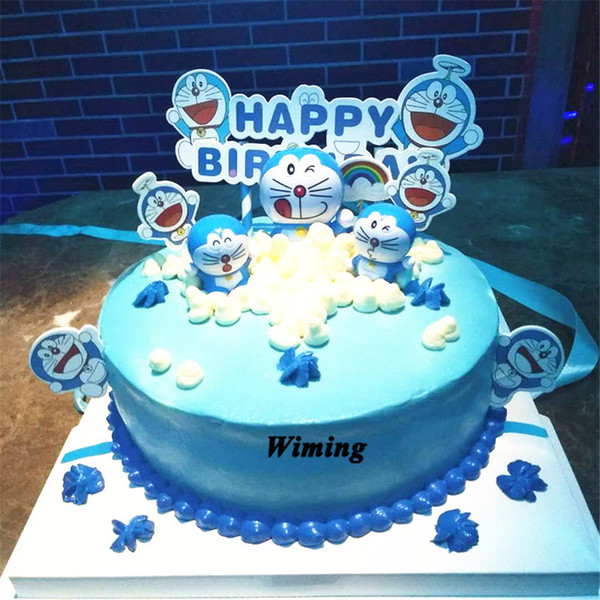2019 Doraemon Cake Topper Kids Children Boys Toys For Birthday Party Gifts Baby First Birthday Decoration Cupcake Toppers Cat From Blithenice 39 81