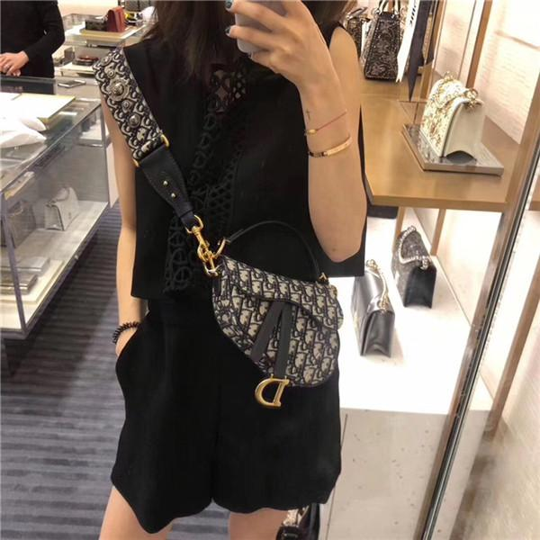 top popular 2019 Brand Sale CChristian Female Saddle Retro Saddle Bag Canvas Printed Strap Handbag Hain Shoulder Shopping Bag 2019