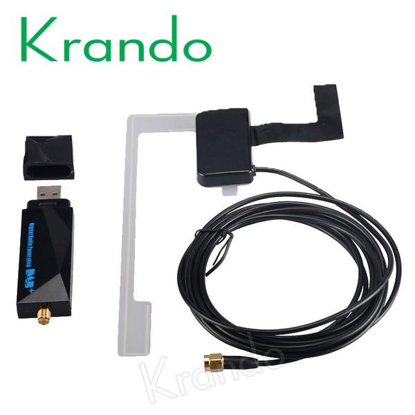 2017 Europa Cable USB universal DAB + Antena usb Box dongle para Android Coche Reproductor de DVD Antena DAB para Android Aplicación DAB