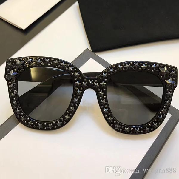 0116 Sunglasses Luxury Women Brand Designer Cat Eyes Glasses Summer Style Rectangle Full Frame Top Quality UV Protection Come With Case