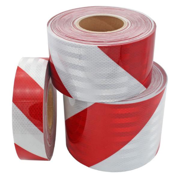 top popular High Light Twill Reflective Strip Road Construction Garage Anti-collision Warning Self-adhesive Tape Decorative Stickers PVC Reflective Film 2021